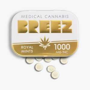 Breez Gold Mints Tin 1000 mg | Buy Edibles Online